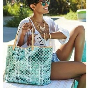 Stella and Dot tote with matching zip bag